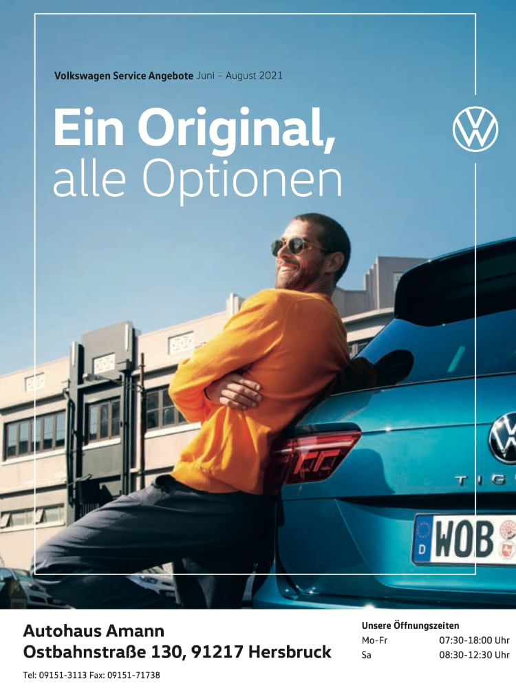 Volkswagen Service Angebote Juni – August 2021